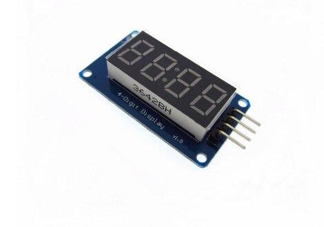 Hailangniao 10 шт. 4 биты цифровой LED Дисплей модуль с часами Дисплей tm1637