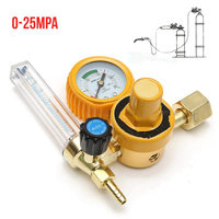 0 25Mpa Argon CO2 Mig Tig Flow Meter Gas Regulator Flowmeter Welding Weld Gauge Argon Regulator Oxygen Pressure Reducer