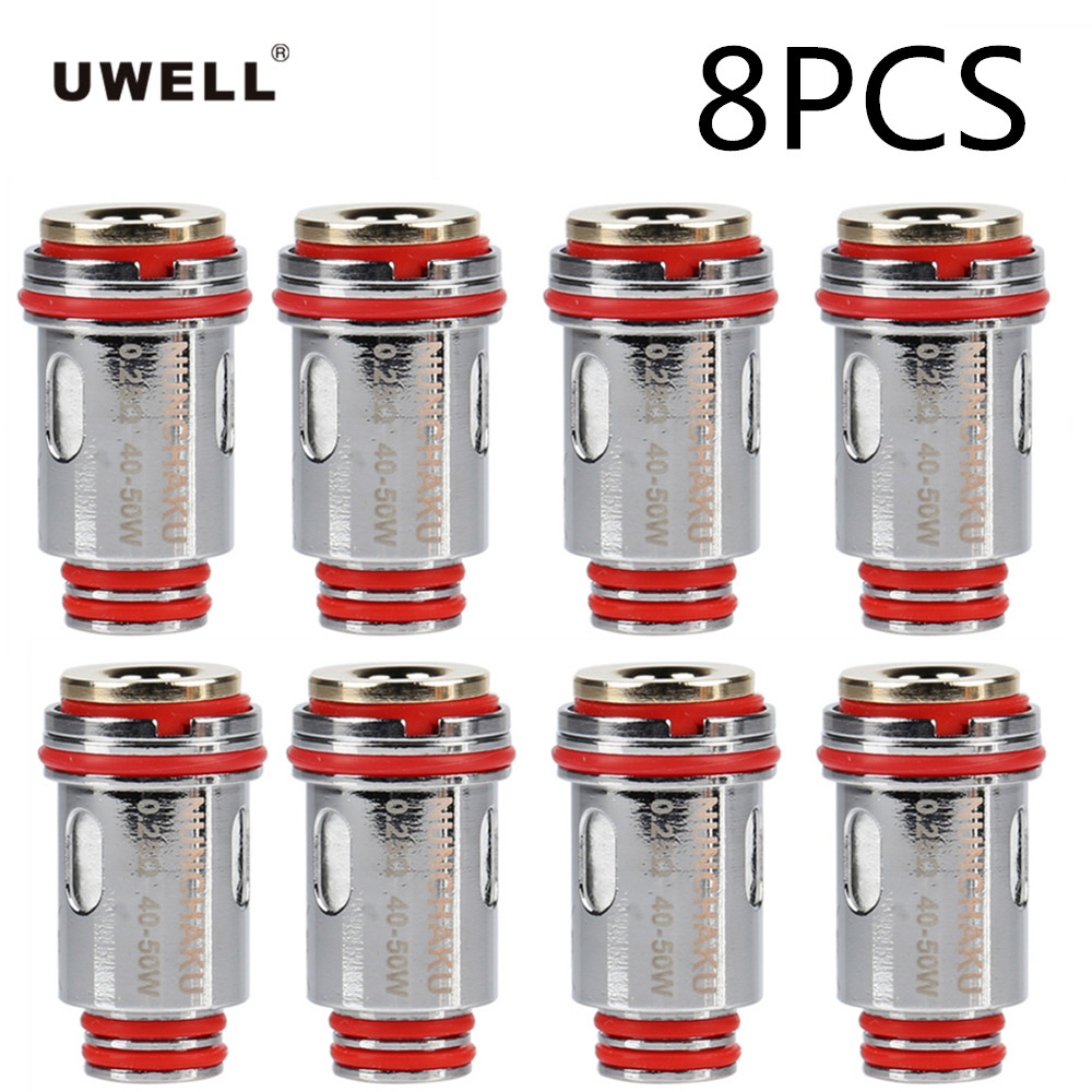 8pcs Original Uwell NUNCHAKU Coils Head Core Electronic Cig Accessory 0.2ohm 0.4ohm replacement For Uwell NUNCHAKU Vape Tank 4pcs core gift original uwell nunchaku tank kit vape 5ml atomizer 80w box mod large cloud
