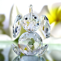 H&D Crystal Elephant Figurines Collectibles Glass Animal Figurine for Table Home Decoration Handcraft Gifts for Birthday