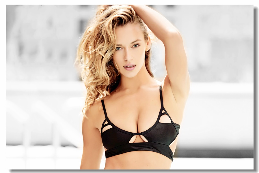 Custom Canvas Wall Murals Sexy Supermodel Poster Hannah Ferguson Wallpaper Pin Up Girl Wall Sticker Office Decorations #0087#