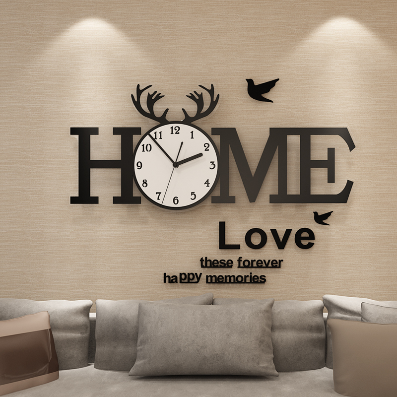 European Acrylic Wall Clock Home Creative Quartz Large Wall Clocks Watch With Wall Stickers Modern Decorative Horloge