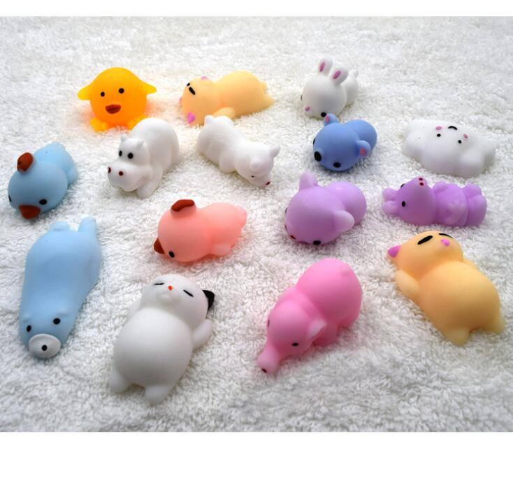 2018 Squishy Squeeze Kawaii  Mochi Animal Lazy Cat Mini Decompress Soft Slow Rising Healing Toys Funny Kids Children Toys Gifts