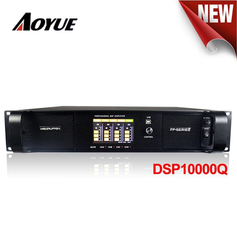 2017 newest High module 4 channel 1300w dsp power amplifier DSP 10000q stage line array amplifier for sale ak 123f usb black power amplifier 220v 50hz for stage 200w 200w