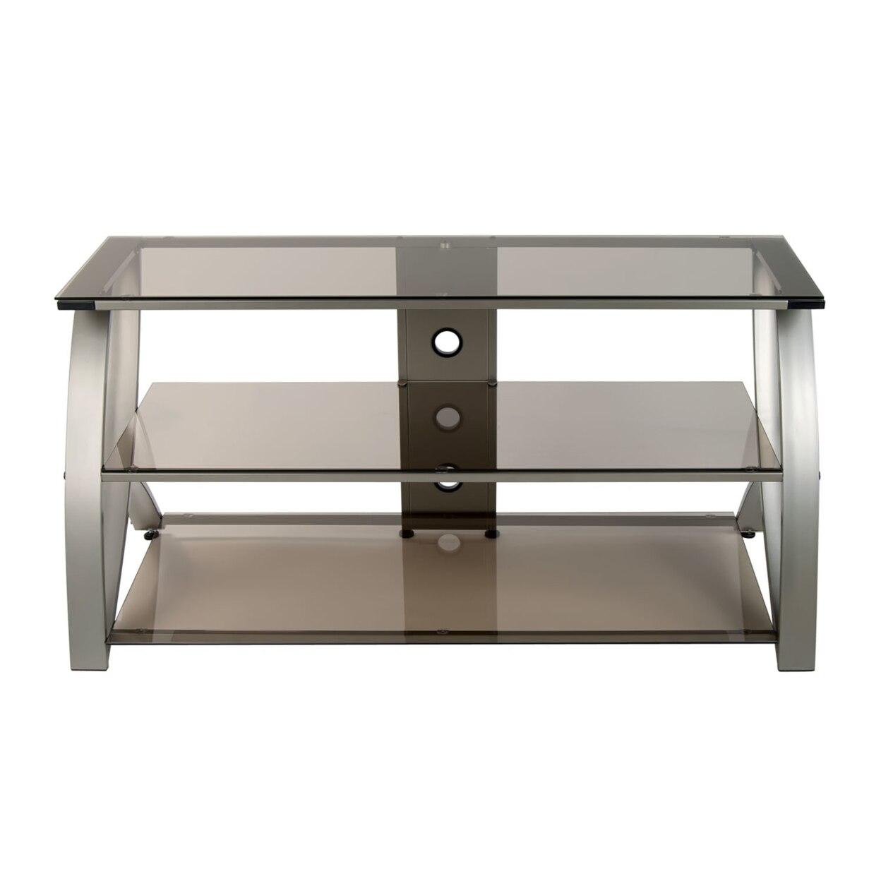 купить Offex Home Office Futura Advanced TV Stand Glass - Champagne/Bronze недорого