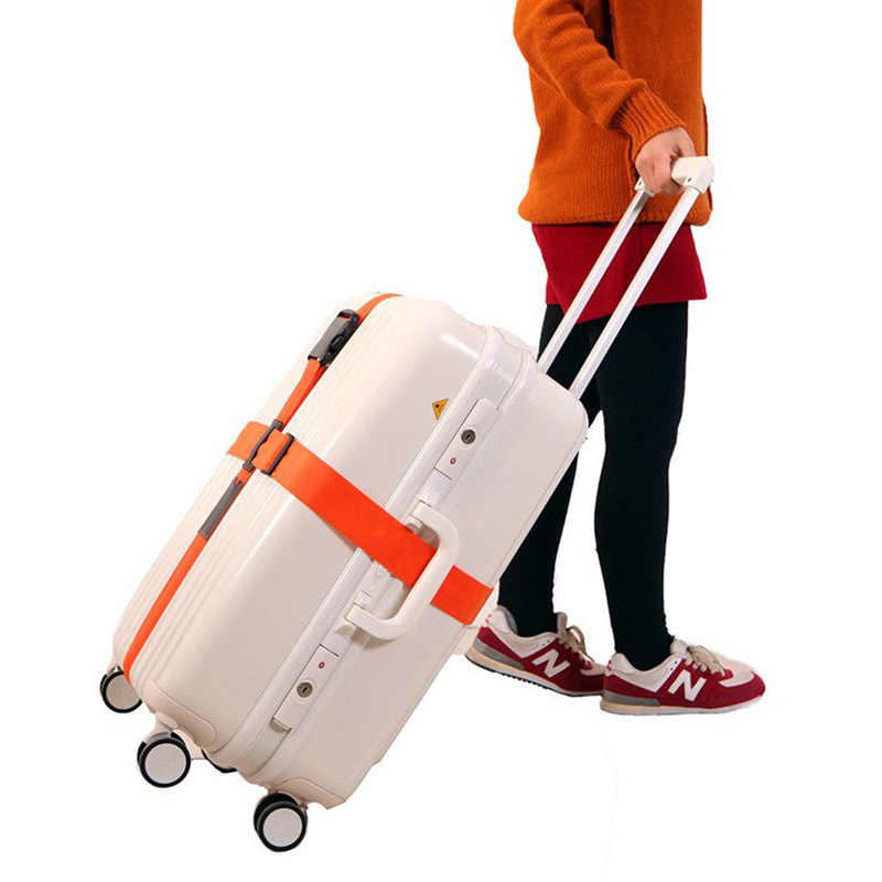 Travel Suitcase Luggage Straps Polyester Baggage Cross Multicolor Packing Belt Trolley Tie Rope Travel Accessories