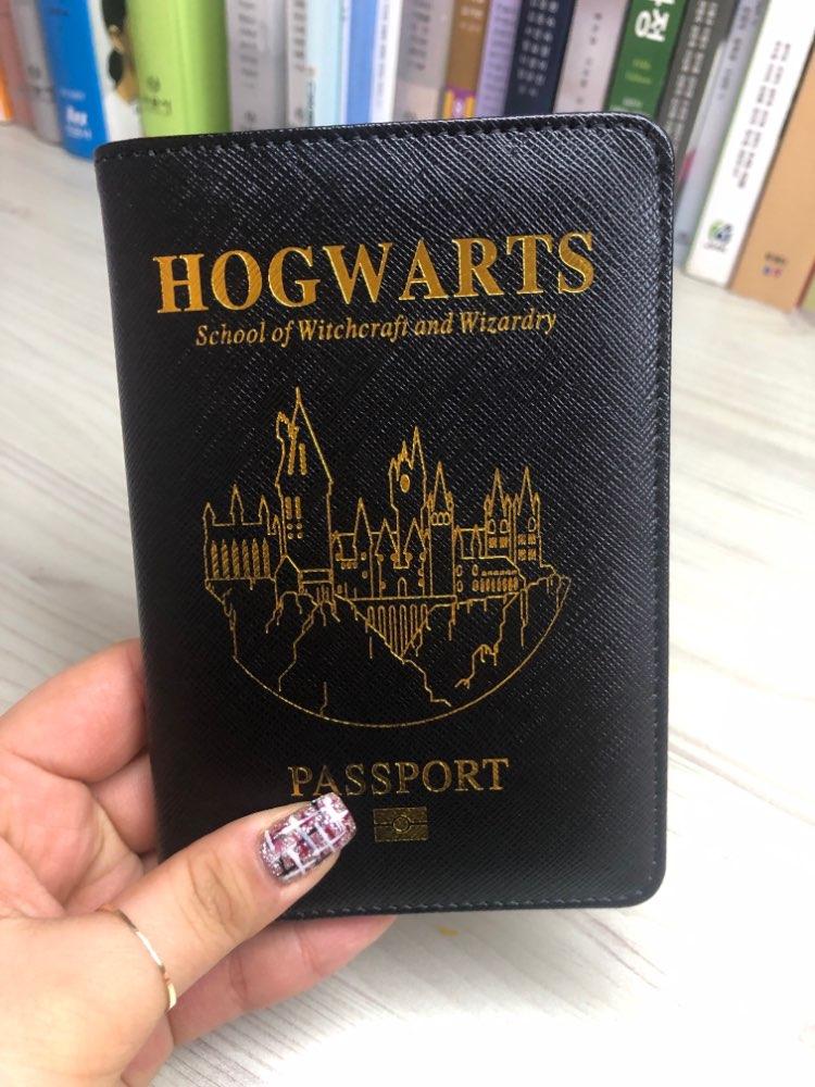 DIKEDAKU Harry Potter RFID Paspoort Cover Unisex Hoge Kwaliteit Pu Lederen Kaarten Paspoorthouder Portemonnee Hogwarts Case Voor Paspoort photo review
