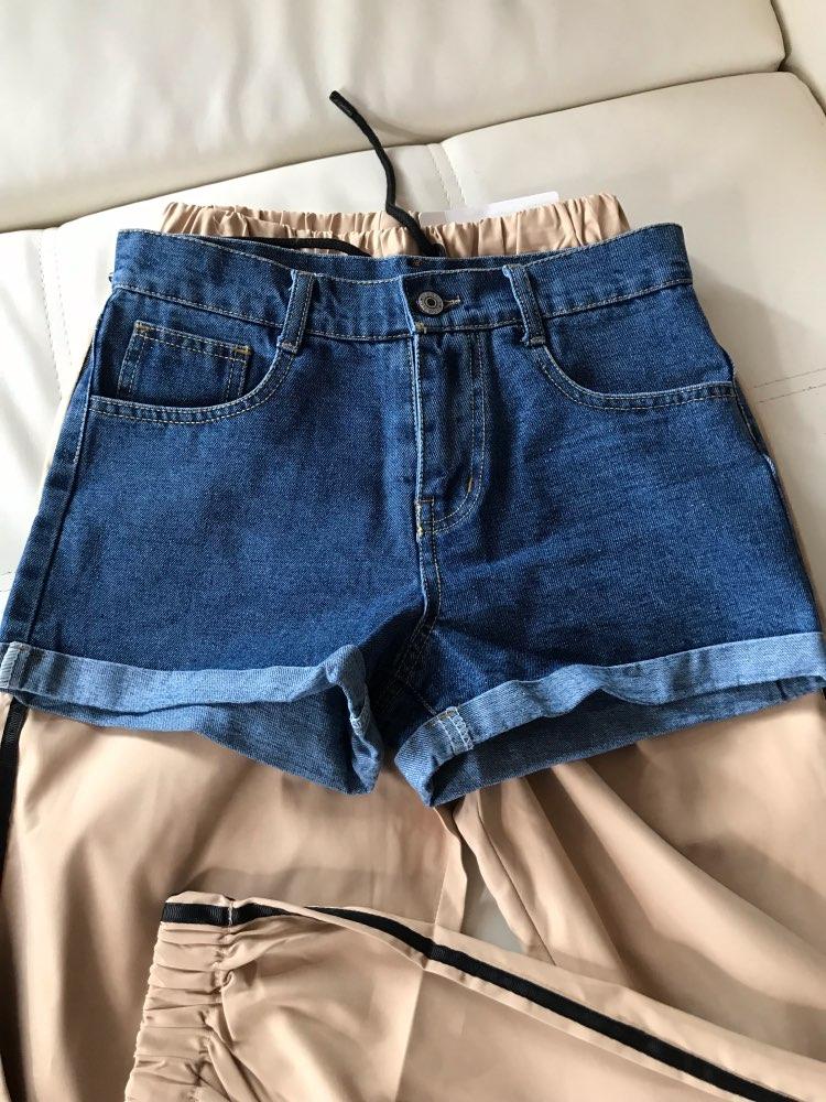 High Waist Denim Shorts Plus Size Xl Female Short Jeans For Women Summer Ladies Hot Shorts photo review