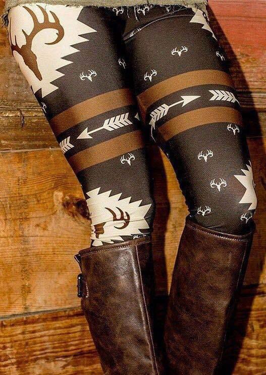 PADEGAO women print Stretchy Pants   Leggings   Printing High Elastic skinny   leggings   Christmas Deer printed winter Xmas   legging   5xl