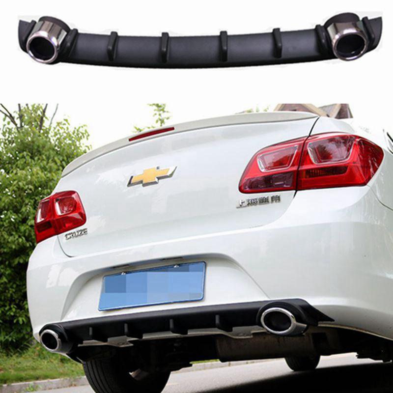 For Cruze Car Accessories Rear Bumper Protector Dual Diffuser Spoiler For Chevrolet Cruze bumper rear lip rear spoiler 2015 body kits front bumper parts rear diffuser car accessories for ford mustang coupe 2015 2017