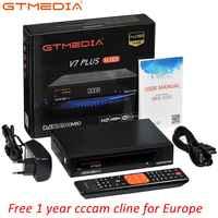 GTMEDIA V7 PLUS Ricevitore Satellitare DVB-S2 DVB-T2 TV Satellitare Combo Recettore Supporto H.265 1 Anno Spagna Italia Cccam Cline Europa