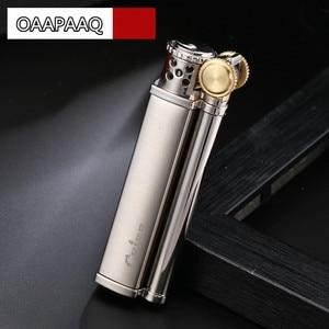 Image 2 - Vintage Retro Design Lighter Men Gadgets Kerosene Oil Lighter Old Gasoline Grinding Wheel Cigarette Classic Cigar Bar Lighters