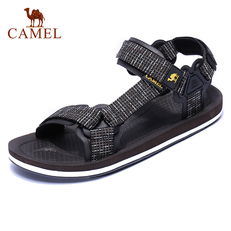 CAMEL New Casual Men's Sandals Summer Outdoor Beach Men Sports Fashion Cool Anti-slip Water Resistance Male Flats Couples Shoes