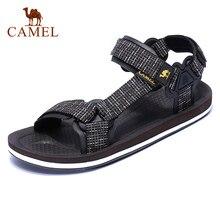 Deve yeni rahat erkek sandalet yaz açık plaj erkekler spor moda serin kaymaz su geçirmez erkek daireler çiftler için ayakkabılar
