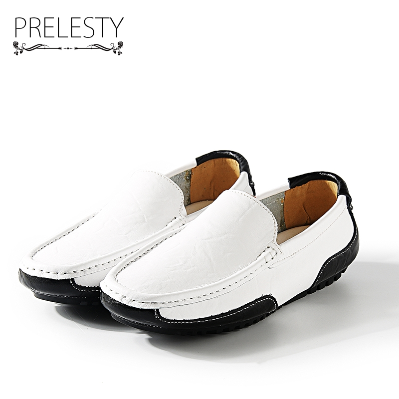 Prelesty Brand Autumn Mixed Color Design Men Driving Shoes Loafers Leather Boat Shoes Breathable Male Casual Flats Loafers muhuisen brand new fashion summer spring men driving shoes loafers real leather boat shoes breathable male casual flats loafers