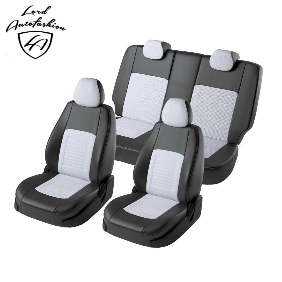 Pour Hyundai Creta 2016-2019 housse de siège spécial évantail complet (Modèle Turin éco-en cuir)