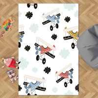 Sonst Weiß Himmel Blau Wolken Rot Braun Flugzeuge 3d Print Non Slip Mikrofaser Kinder Kinder Zimmer Dekorative Bereich Teppich Kinder matte