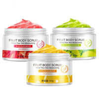 120g Fruit Body Scrub Tomato Orange Kiwi 3 Scent Exfoliating Cream Body Massage Whitening Gel Shrink