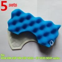 5set Vacuum Cleaner HEPA Filter Foam Rubber For Samsung Sc Series Sc43EO SC4770 VCMA16ES SC07M31E0HN VCMA18AV