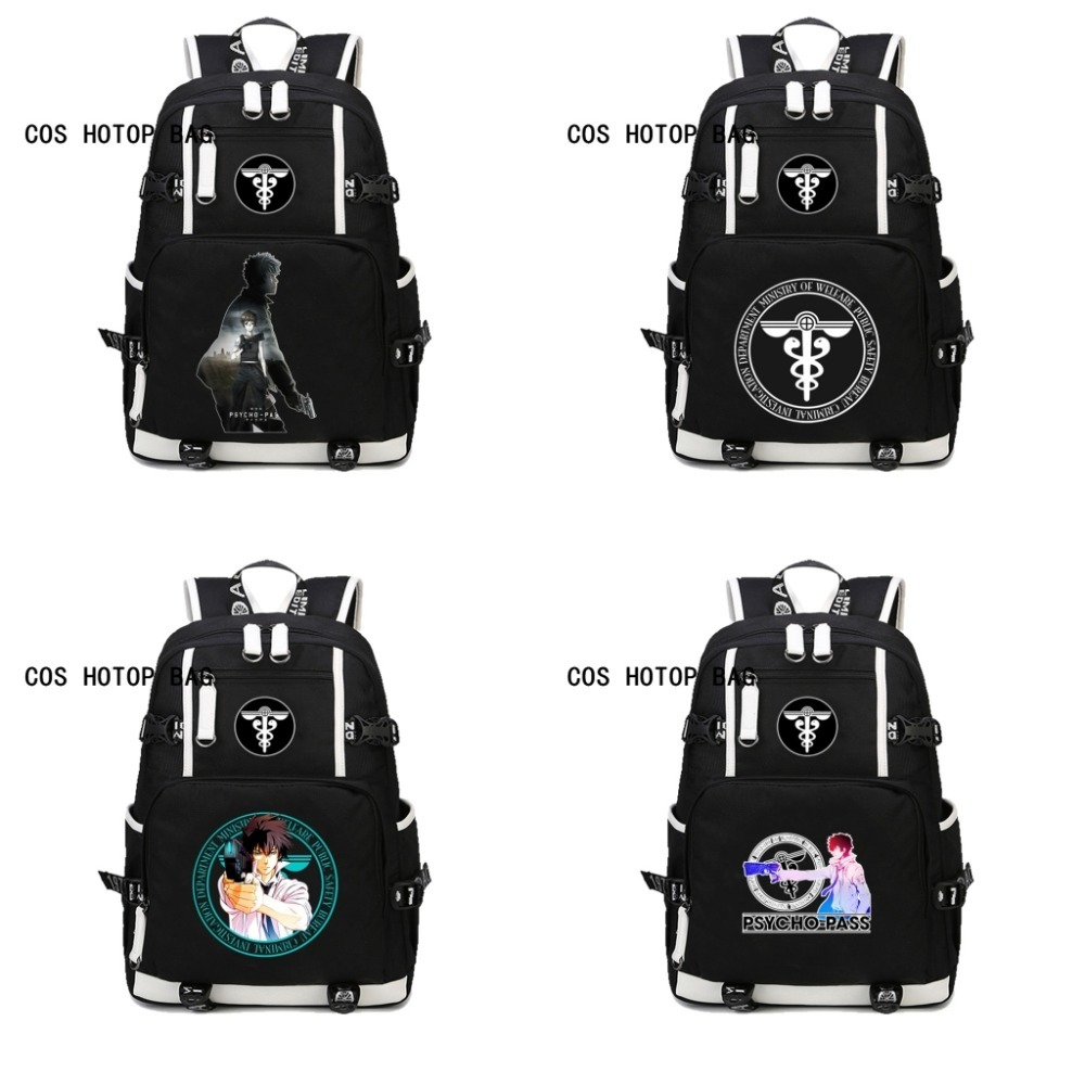 Japan anime PSYCHO PASS Backpack For boys girl Children student book Bag School Backpack Teenagers Travel Rucksack Bag 8 style