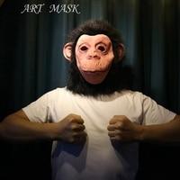 Chimp Monkey Mask Gorilla Ape Bruno Mars Lazy Song Animal Primate Fancy Dress Party Mask