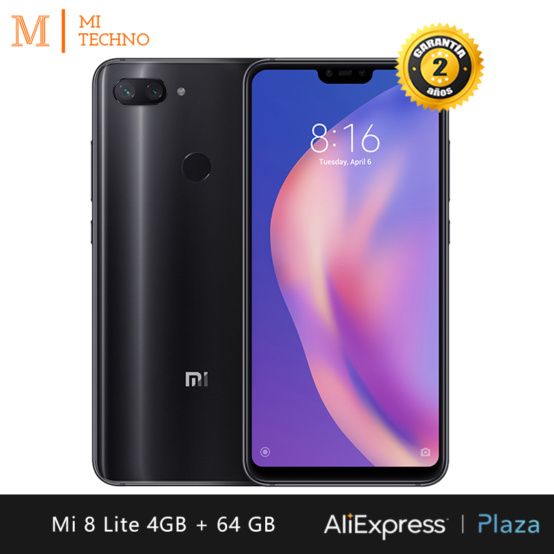Global Version Xiaomi Mi 8 Lite Smartphone 6 26 RAM 4GB ROM 64GB Dual SIM