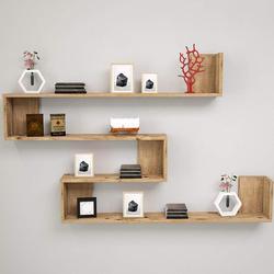 Półka i półka wykonane w turcji nowoczesna półka dekoracyjna salon ściana z drewna stojak na książkę Organizer stelaż półki regał w Biblioteczki od Meble na