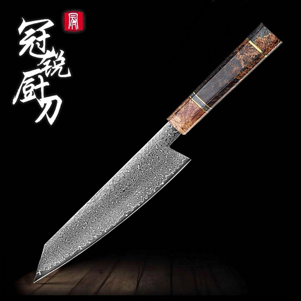 Handmade Chef Knife Japanese Damascus Steel Kiritsuke 67 Layers VG10 Luxury Kitchen Knives Professional Cooking Tools Best Gift