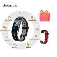 ACCALIA умный фитнес-браслет для мужчин цветной экран IP68 Водонепроницаемый кровяное давление монитор сердечного ритма браслет для Android IOS