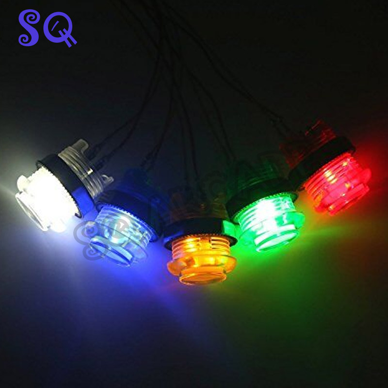 1pc Free Shipping DC5V Micro Push Button Led Flashing Switch Crap In Transparent Mini Buttons