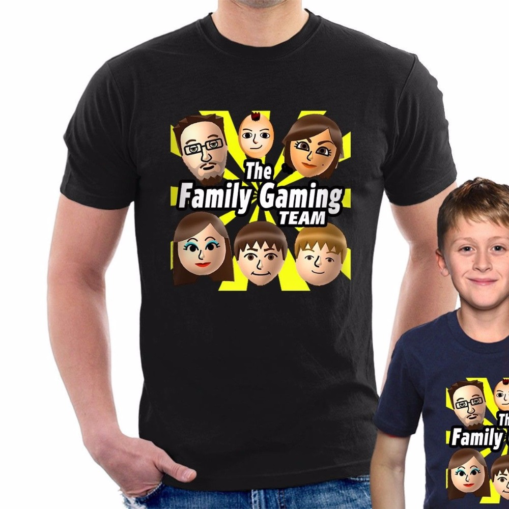 Fgteev T-Shirt The Family Gaming Team Youtuber Gaming Fgtv Adult And Kids B23 Sale 100 % Cotton T Shirt