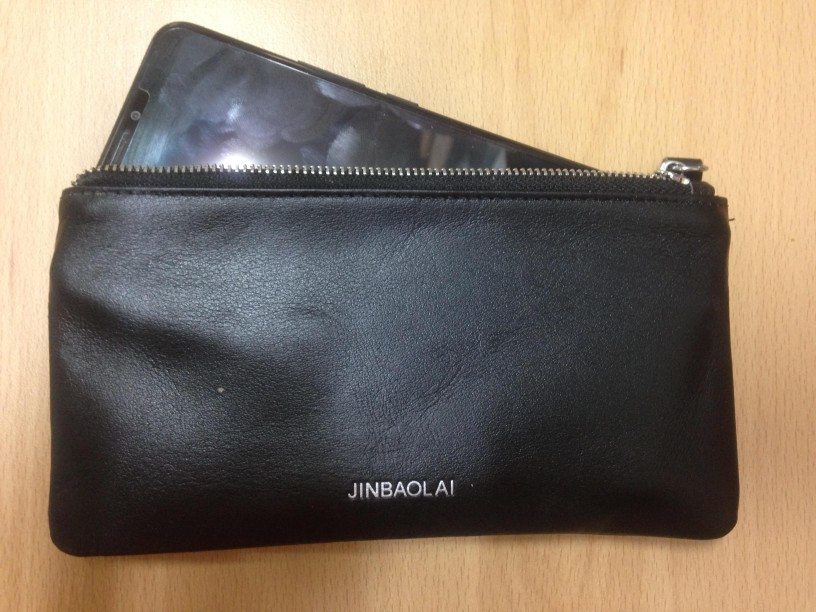 Genuine leather wallet with cellphone pocket card slots long male clutch soft leather simple style ! photo review