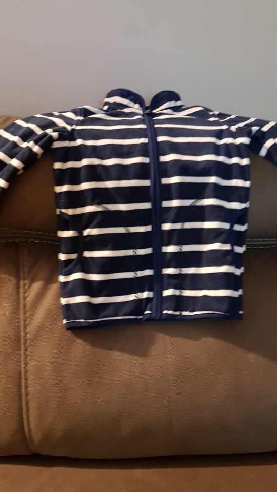 Boy's Striped Hooded Fleece Jacket photo review