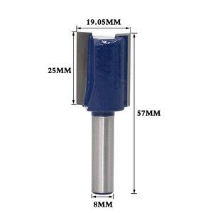 Image 2 - 1 pièce 8mm tige haute qualité droite/Dado routeur jeu de forets diamètre bois outil de coupe