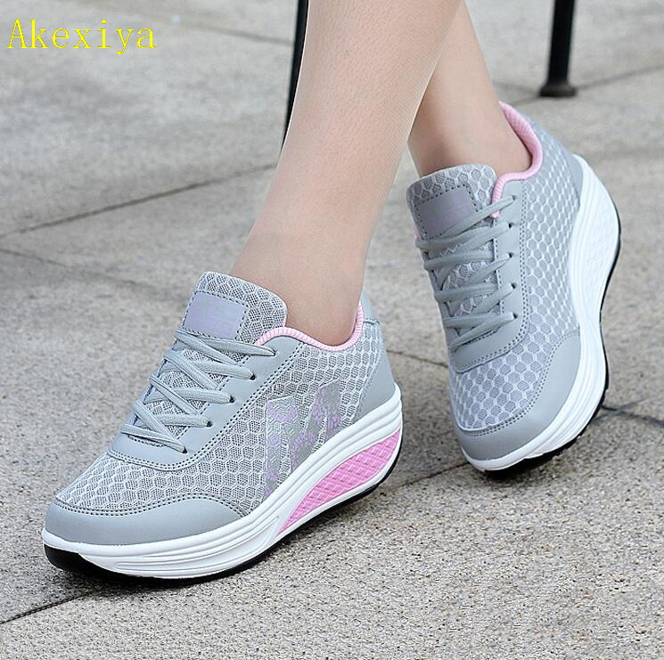 Akexiya 2019 Casual Womens Shoes Platform Flats Lady Beauty Sewing Fitness Shoe New Trendy Health Wedges Sneakers Size 35-40Akexiya 2019 Casual Womens Shoes Platform Flats Lady Beauty Sewing Fitness Shoe New Trendy Health Wedges Sneakers Size 35-40