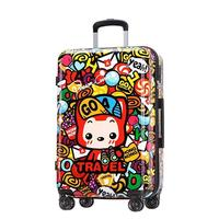 Trolley Travel Bag Cabin Valise Bagages Roulettes Bavul Colorful Valiz Carro Maleta Mala Viagem Luggage Suitcase 2024inch