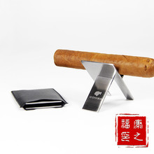 Cohiba 1pcs High Quality Stainless Steel for Cigar Rack Practical Gadgets  Foldable holder Stand Tray Mini Tobacco Support