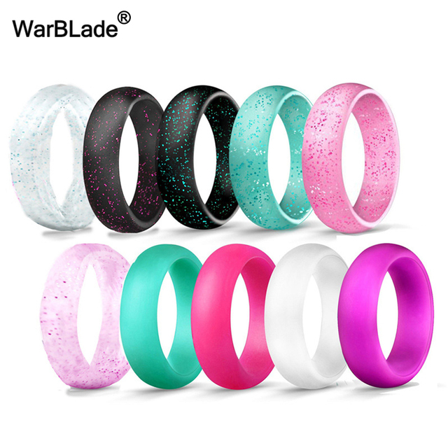 10pcs/set 4-10 Size Food Grade FDA Silicone Finger Ring 5.7mm Hypoallergenic Cro