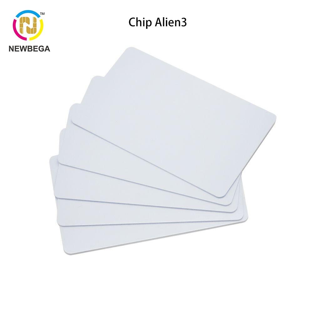 10PCS RFID UHF ISO18000-6C Gen2 Alien3 CR80 Size PVC Plain White Card