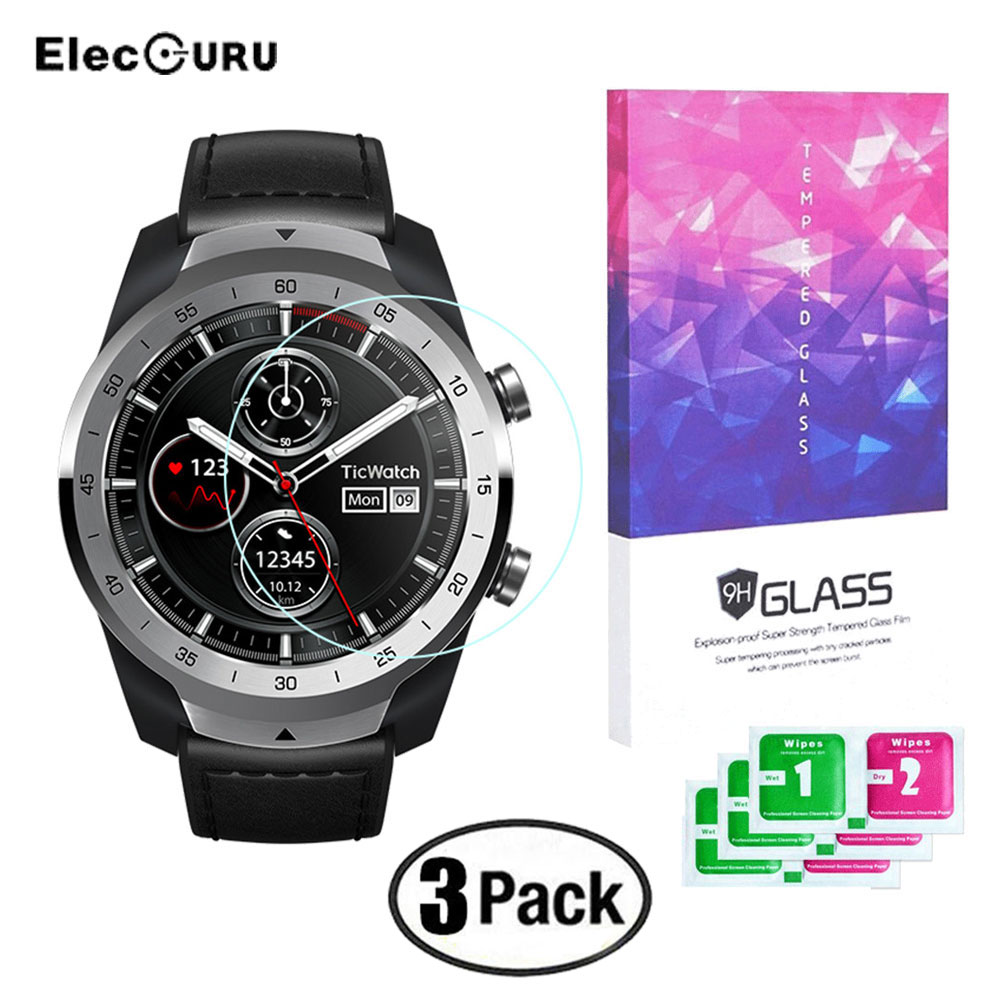 HD Screen Protector For Ticwatch Pro Watch Full Cover 9H Tempered Glass Film Explosion-proof Anti Scratch Screen Protective Film