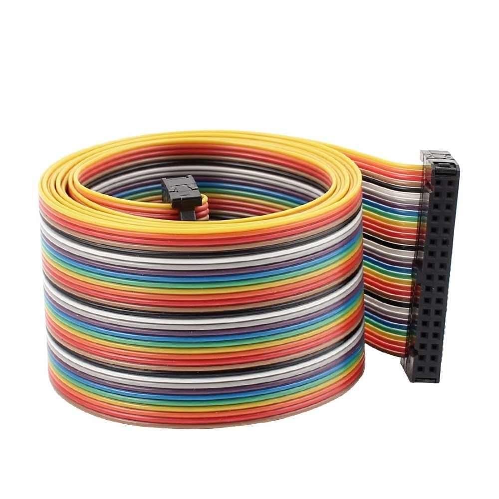 UXCELL 2.54 มิลลิเมตร 34 Pin 34 Way F/F ตัวเชื่อมต่อ IDC Flat Rainbow สายริบบิ้น 148 เซนติเมตรสายไฟอุปกรณ์เสริมไฟฟ้าอุปกรณ์