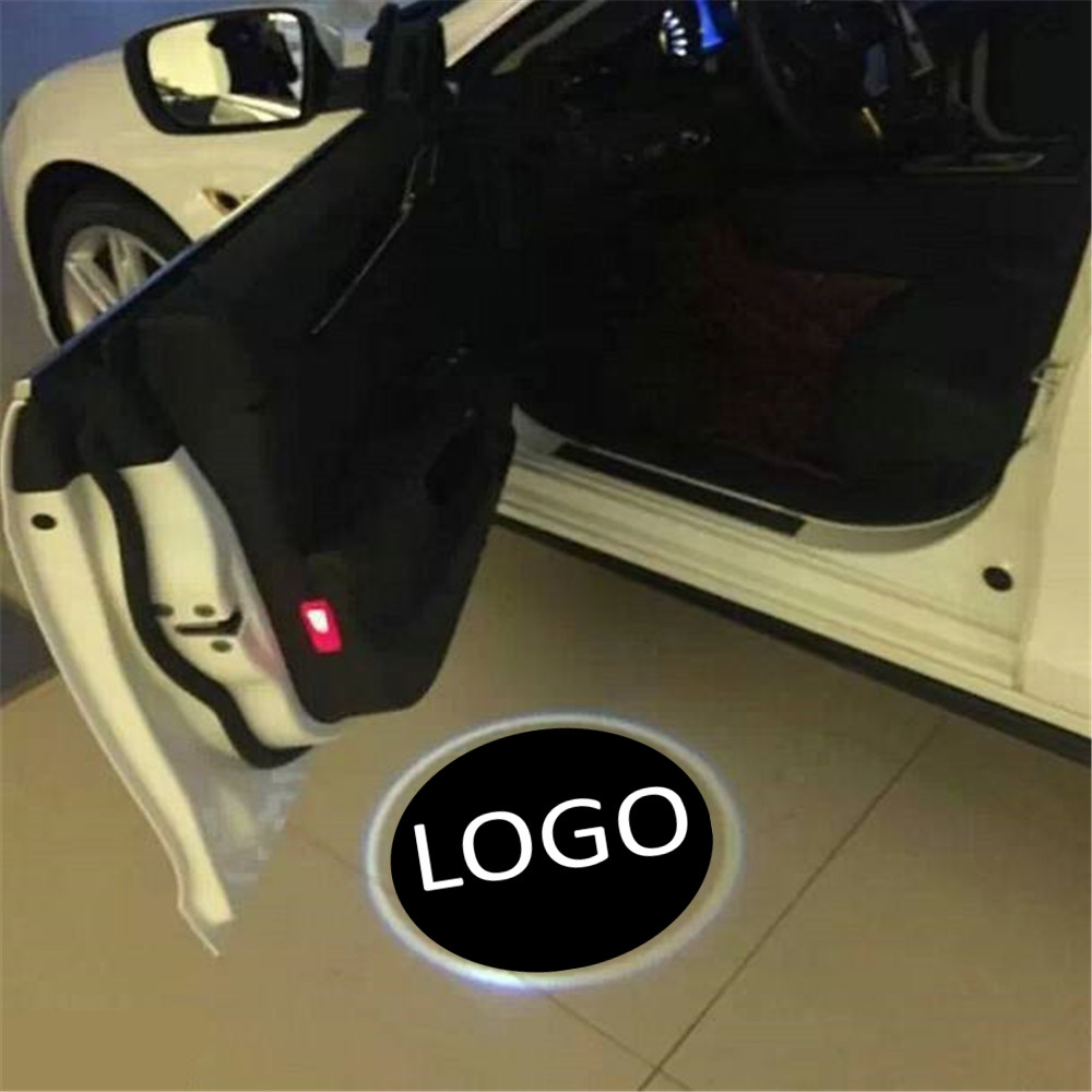 car accessories 2 pcs For genesis For bentley Car Door Welcome Light LED For Renault Laser Logo Ghost Shadow Warning For Fiat