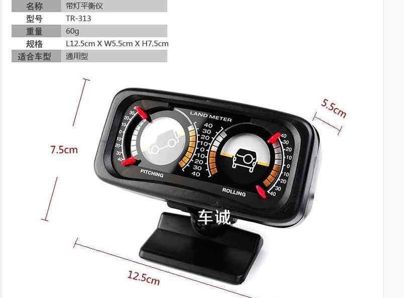 Baru Mobil Auto Kompas Disesuaikan Meteran Saldo Slope Indicator Tanah Meter dengan Lampu LED untuk Kendaraan Off-Road SUV panduan Bola