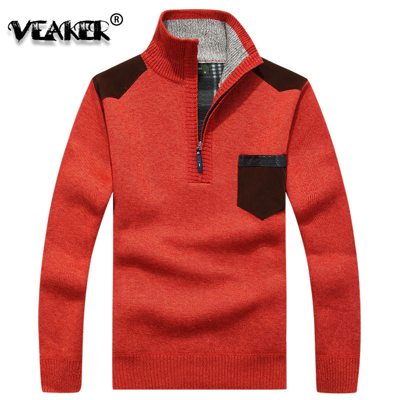 Wool Sweater Pullover Knitwear Turtleneck Cashmere Warm Mens Casual Winter Plus-Size