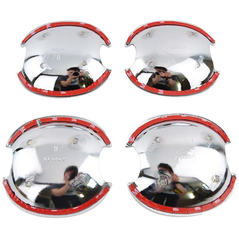 2in1 для Skoda Octavia Fabia 2008-2013 хромированные дверные ручки+ шара двери Крышка Кубок Кепки отделка рамка литья 2009 2010 2011 2012