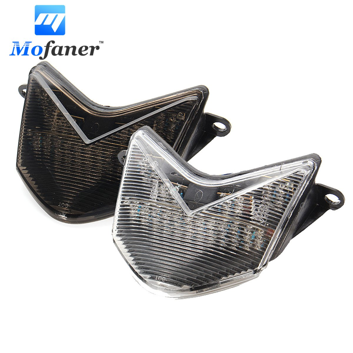 Mofaner Smoke Motorcycle Integrated Brake Tail Light For KAWASAKI NINJA ZX6RR ZX6R 636 2005 2006