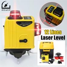 Laser Level 12 Linie 3 Punktów DLaser Poziom Funkcja Tilt 360 Obrotowy Samo Lleveling Zewnątrz Corss Linii Lazer Narzędzia Pomiarowe