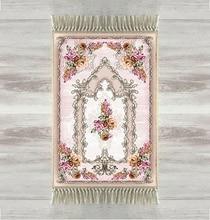 Else Yellow Pink Roses Flowers Rose 3d Turkish Islamic Muslim Prayer Rugs Tasseled Anti Slip Modern Prayer Mat Ramadan Eid Gifts