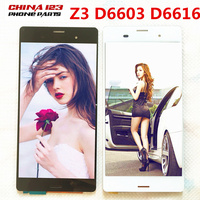 10pcs Black White Original For SONY Xperia Z3 LCD Display Touch Screen D6603 D6616 D6683 Replacement
