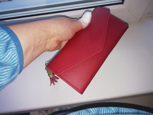 Основной материал:: ПУ; коричневый клатч; женщины портмоне;